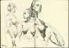Cartoon: Figure Montaqe 211 (small) by halltoons tagged figure,drawing,sketch,nude,female,girl,ink,pen