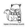 Cartoon: One Cats Thoughts (small) by DebsLeigh tagged cat kitty feline thoughts christmas cute