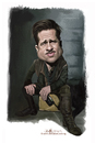 Cartoon: digital caricature of Brad Pitt (small) by jit tagged digital,caricature,of,brad,pitt
