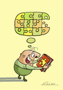 Cartoon: Thought-puzzle (small) by Alex Skibelsky tagged book,thought,puzzle,piece,joy,thinking,reading,happiness,wisdom,knowledge,mindset