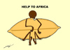 Cartoon: HELP TO AFRICA (small) by serkan surek tagged surekcartoons