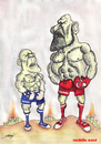Cartoon: ISRAEL  - TURKEY (small) by serkan surek tagged surekcartoons