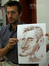 Cartoon: Live caricature (small) by takacs tagged caricature