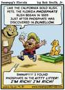 Cartoon: Swampys Florida Webcomic (small) by RobSmithJr tagged ftravel,florida,tourism,flordia,history,swampys,phosphate,kitty,litter,ruch,gold,rush