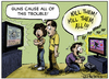 Cartoon: Video Game Violence (small) by RobSmithJr tagged guns,gun,video,games,violence,nra