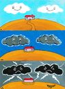 Cartoon: Borders and Clouds (small) by Recep ÖZCAN tagged clouds,borders,limiting