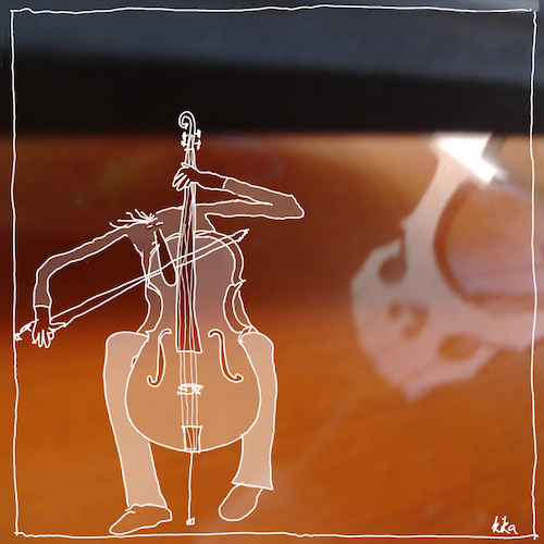 Cartoon: cello (medium) by kika tagged cello,spielen,musik,musikalische,früherziehung
