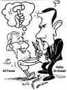 Cartoon: Ali Farzat Vs. Assad (small) by Raed Al-Rawi tagged cartooinst