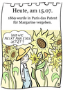 Cartoon: 15. Juli (small) by chronicartoons tagged margarine,butter,brotaufstrich,sonnenblume,cartoon