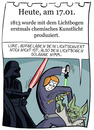 Cartoon: 17. Januar (small) by chronicartoons tagged lichtbogen star wars yoda darth vader luke skywalker laserschwert cartoon