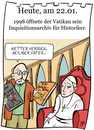 Cartoon: 22. Januar (small) by chronicartoons tagged papst,bibi,blocksberg,kleine,hexe,inquisition,vatikan