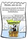 Cartoon: 22. Oktober (small) by chronicartoons tagged fallschirm,heißluftballon,fesselballon,cartoon