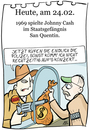 Cartoon: 24. Februar (small) by chronicartoons tagged johnny,cash,san,quentinn,country,cartoon