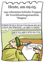 Cartoon: 9. Mai (small) by chronicartoons tagged enigma,weltkrieg,marine,armee,soldat,cartoon