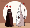 Cartoon: Alliance of civilizations (small) by ELCHICOTRISTE tagged islam,burka,alliance
