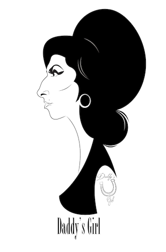 Cartoon: Amy Winehouse (medium) by Martynas Juchnevicius tagged singer,caricature,amy,winehouse