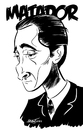 Cartoon: Adrien Brody (small) by Martynas Juchnevicius tagged adrien,brody,actor,movies,film,people,matador,pianist,caricature