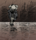 Cartoon: Wet Harris (small) by brazil80 tagged teddy,rain,city,lonesome,regen,bär
