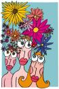 Cartoon: Fleurir (small) by Albin Christen tagged printemps,springtime,people,flower,fleurs,spring,blumen,colors,couleurs,couleur,fresh,frais,