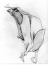 Cartoon: Mikey_Monkey110109_05 (small) by mikeyzart tagged cartoon,animal,caricature,pencil,nature,monkey