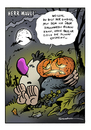 Cartoon: Halloween (small) by Schwarwel tagged halloween,schwarwel,cartoon,witz,witzig,geist,kuerbis,herr,mauli,orange