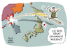 Cartoon: Nordkorea Raketentest USA (small) by Schwarwel tagged nordkorea,korea,usa,donald,trump,us,amerika,krieg,terror,zerestörung,raketentest,rakete,soldaten,militär,militäreinsatz,waffen,gewalt,atombombe,atomar,japan,china,verbündete,kim,jong,un,provokation,eskalation,welzmacht,weltmächte,politik,politiker,sanktionen,alliierte,pjöngjang,südkorea,karikatur,schwarwel