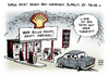 Cartoon: Shell Fusion Gasriese BG Group (small) by Schwarwel tagged shell,fusion,gasriese,bg,groupkampf,billigöl,billig,öl,preiswert,karikatur,schwarwel