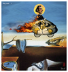 Cartoon: holy dali (small) by edda von sinnen tagged salvador,dali,bicycles,master,of,surealism,surealismus,fahrräder,heilig,cartoon,hommage,composing,edda,von,sinnen