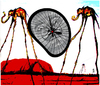 Cartoon: holy dali 3 (small) by edda von sinnen tagged salvador,dali,bicycles,master,of,surealism,surealismus,fahrräder,heilig,cartoon,hommage,composing,edda,von,sinnen