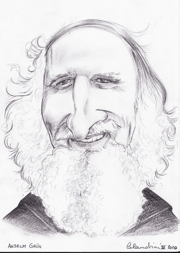 Cartoon: Anselm Grun (medium) by davide calandrini tagged caricature,personaggi,famosi,cultura,arte,spiritualita,letteratura,disegni