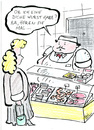 Cartoon: Dicke Wurst (small) by bob tagged metzger,wurst