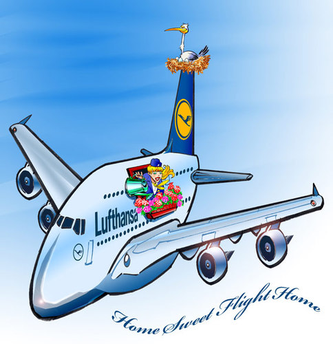 Cartoon: Airbus A380 Contest (medium) by toonpool com tagged airbus380,airbus,flugzeug,plane,contest
