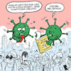 Cartoon: vaccines and viruses (small) by ugurgunel tagged personal,development,grow,virus,covid,corona,putin,vaccine,people