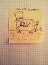 Cartoon: Tofu mit Geschmack (small) by Post its of death tagged tofu