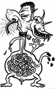 Cartoon: toon 22 (small) by kernunnos tagged poop,doodie,intestines,monsters,hee