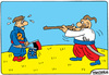 Cartoon: Taras Bulba ukrainian hero (small) by Igor Kolgarev tagged ukraine,eu,orange,revolution,maidan