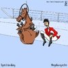 Cartoon: equestrian diving (small) by raim tagged olympics diving equestrian games horse