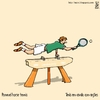Cartoon: Pommel horse tennis (small) by raim tagged pommel horse tennis games olympics