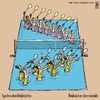 Cartoon: synchronised badminton (small) by raim tagged synchronised badminton games olympics