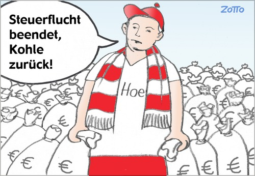 Cartoon: Uli Hoeneß (medium) by Zotto tagged kriminalität,oberschicht