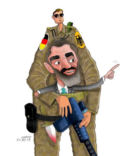 Cartoon: Afghan Warlods and his supporter (medium) by Shahid Atiq tagged afghanistan,balkh,helmand,kabul,london,nangarhar,and,ghor,attack