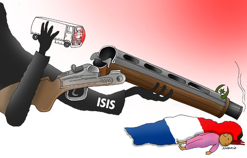 Cartoon: The Last Bullet (medium) by Shahid Atiq tagged afghanistan,kabul,syria,iran,switzerland,schweiz,usa,france,football,safi,cartooneu,uk,shahid,cartoons,afghan,cartoon
