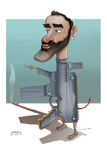 Cartoon: Warlord Atta! (medium) by Shahid Atiq tagged afghanistan,balkh,helmand,kabul,london,nangarhar,and,ghor,attack
