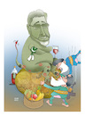 Cartoon: Abuse of religion ! (small) by Shahid Atiq tagged afghanistan