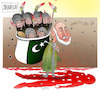 Cartoon: Afghanistan terror attack ! (small) by Shahid Atiq tagged afghanistan,balkh,helmand,kabul,attack