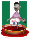 Cartoon: Bloodshed in Nigeria ! (small) by Afghancartoon tagged nigerian,bloodshed