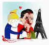 Cartoon: France pays tribute to kabul att (small) by Shahid Atiq tagged afghanistan,balkh,helmand,kabul,nangarhar,attack