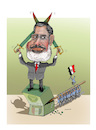 Cartoon: MORSI HAS DIED !? (small) by Shahid Atiq tagged egypt