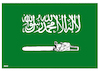 Cartoon: Saudi new flag ! (small) by Shahid Atiq tagged saudi