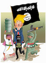 Cartoon: Suppoter of Terrorism! (small) by Shahid Atiq tagged trump,afghanistan,safi,shahid,bahar,ieba,rayian,musa,kart,crni,berlin